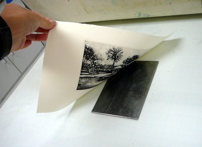 what is a dark field monotype