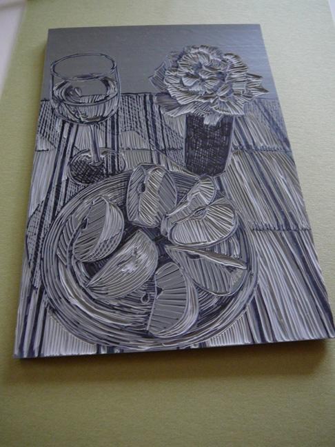 linocut ideas for still life prints