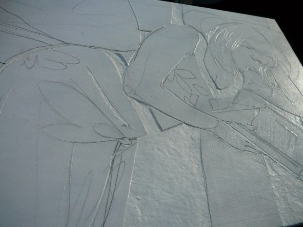 collagraph plate in process