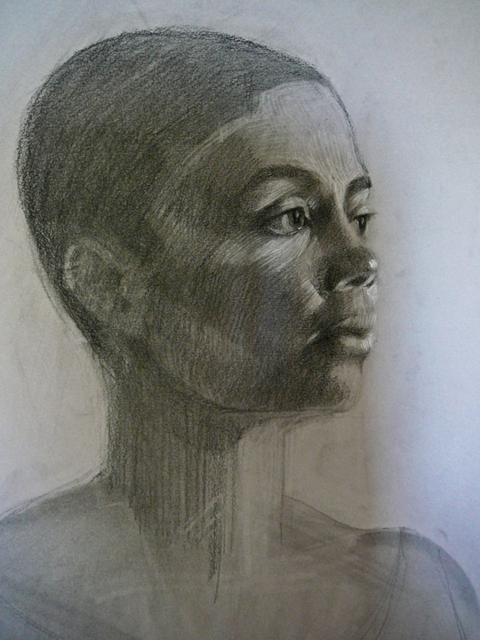 charcoal drawing portraits