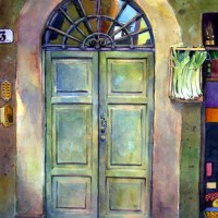 Watercolor - Italian Door - and encouragement to photograph your life