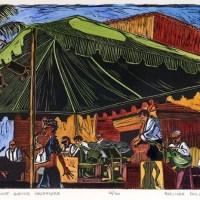 Linocut: Bill Elliott Swing Orchestra