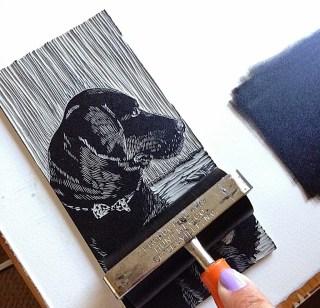 linocut-print