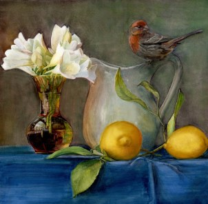 housefinch&freesia22x2272