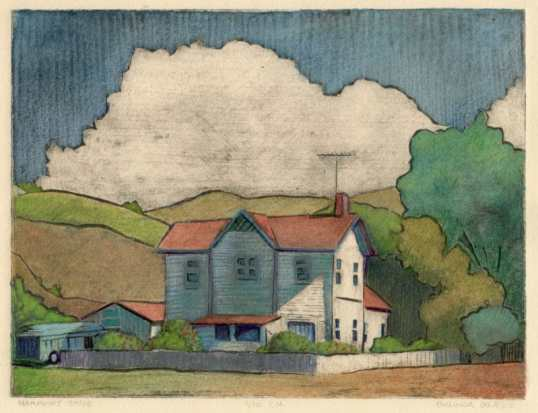 mat-board-collagraph-house
