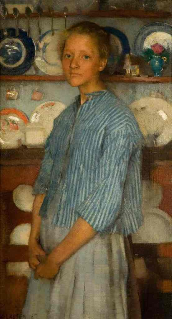 Clausen, George; Normandy Peasant; The Potteries Museum & Art Gallery; http://www.artuk.org/artworks/normandy-peasant-19786