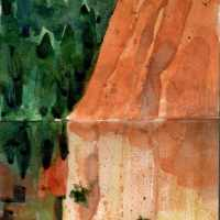 Watercolor: Study for Roussillon (& Ochre pigments)