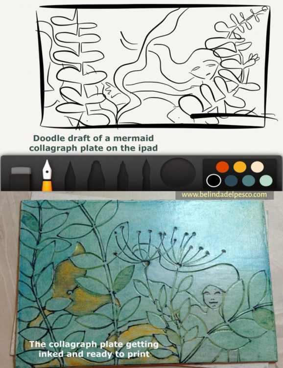 from digital art to printmaking