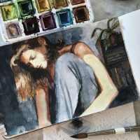 Watercolor Sketch - Morning Musing