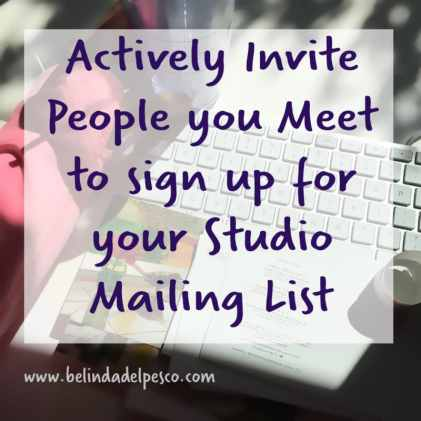 artists should send newsletters to followers and collectors