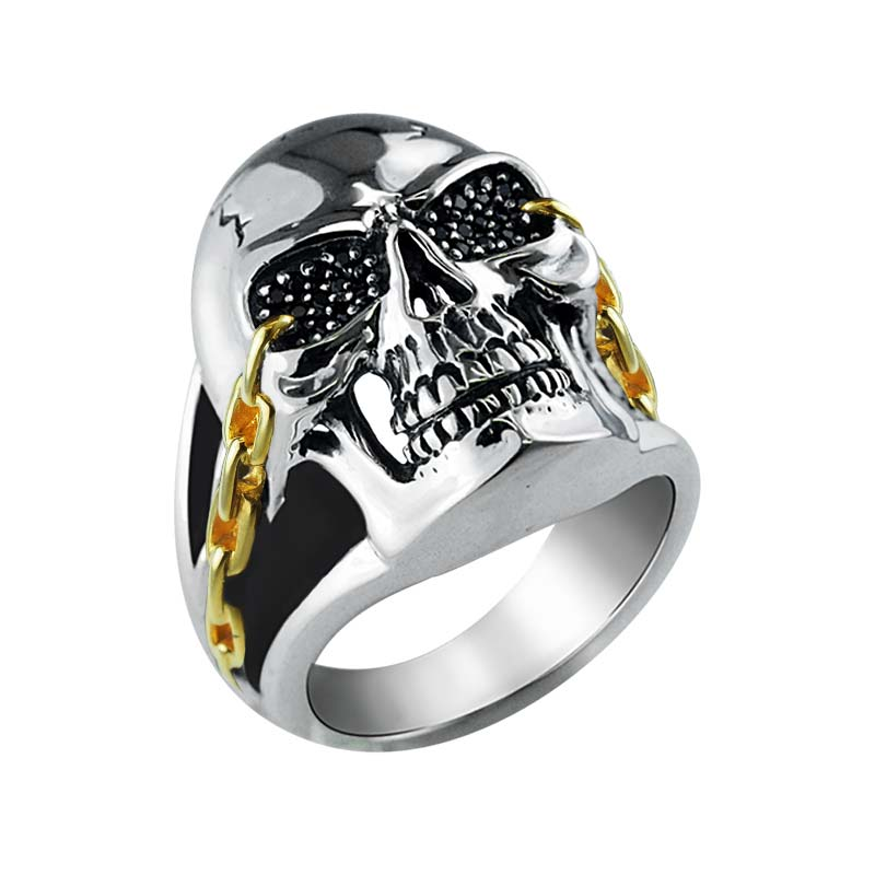 Cool statement ring for men with detailed skull