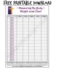 Keeping track of your weight loss tips free printable charts also weigh in konmarpgroup rh