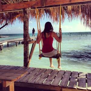 caye caulker beach swing
