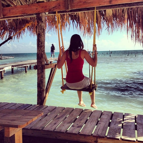 caye caulker beach swing
