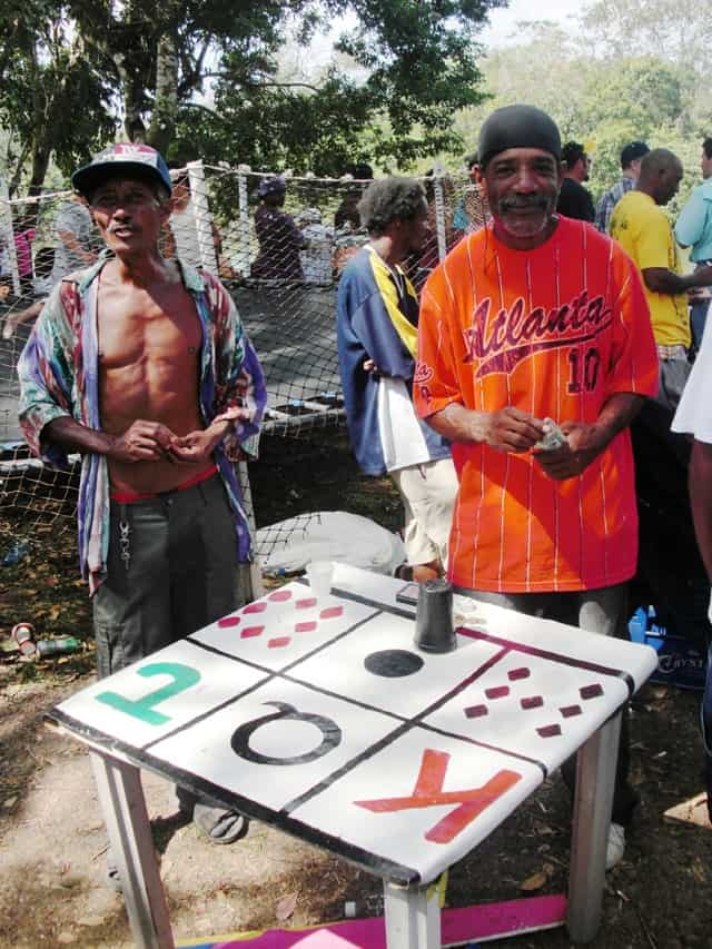 Burrell Boom locals play games at events