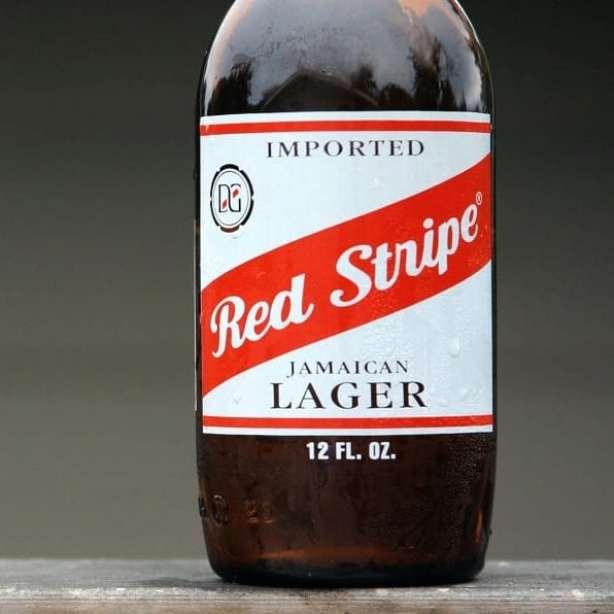 Red Strip Beer in Belize
