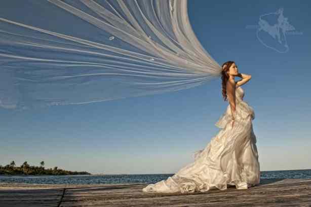 Belize wedding bridal portrait