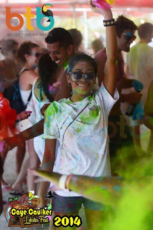 belizeans at paint party