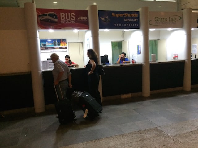ado bus booth at cancun airport