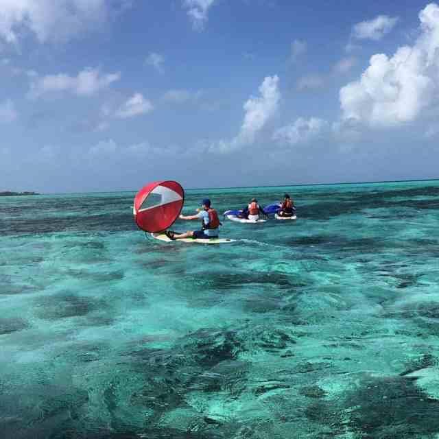SUP boarding sailing