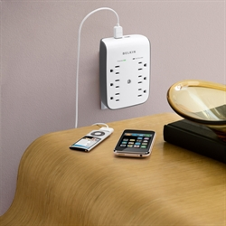 Belkin USB Charging 6-outlet Surge Protector  BV106050-CW
