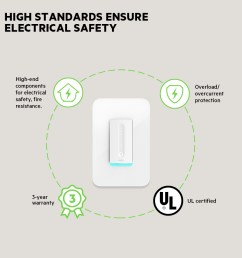 wemo wifi smart dimmer frontviewimage  [ 1000 x 1000 Pixel ]