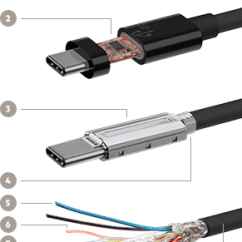 Micro Usb Charging Cable Wiring Diagram 3 Pickup 3.1 Usb-c™ To Usb-c (usb Type-c™)