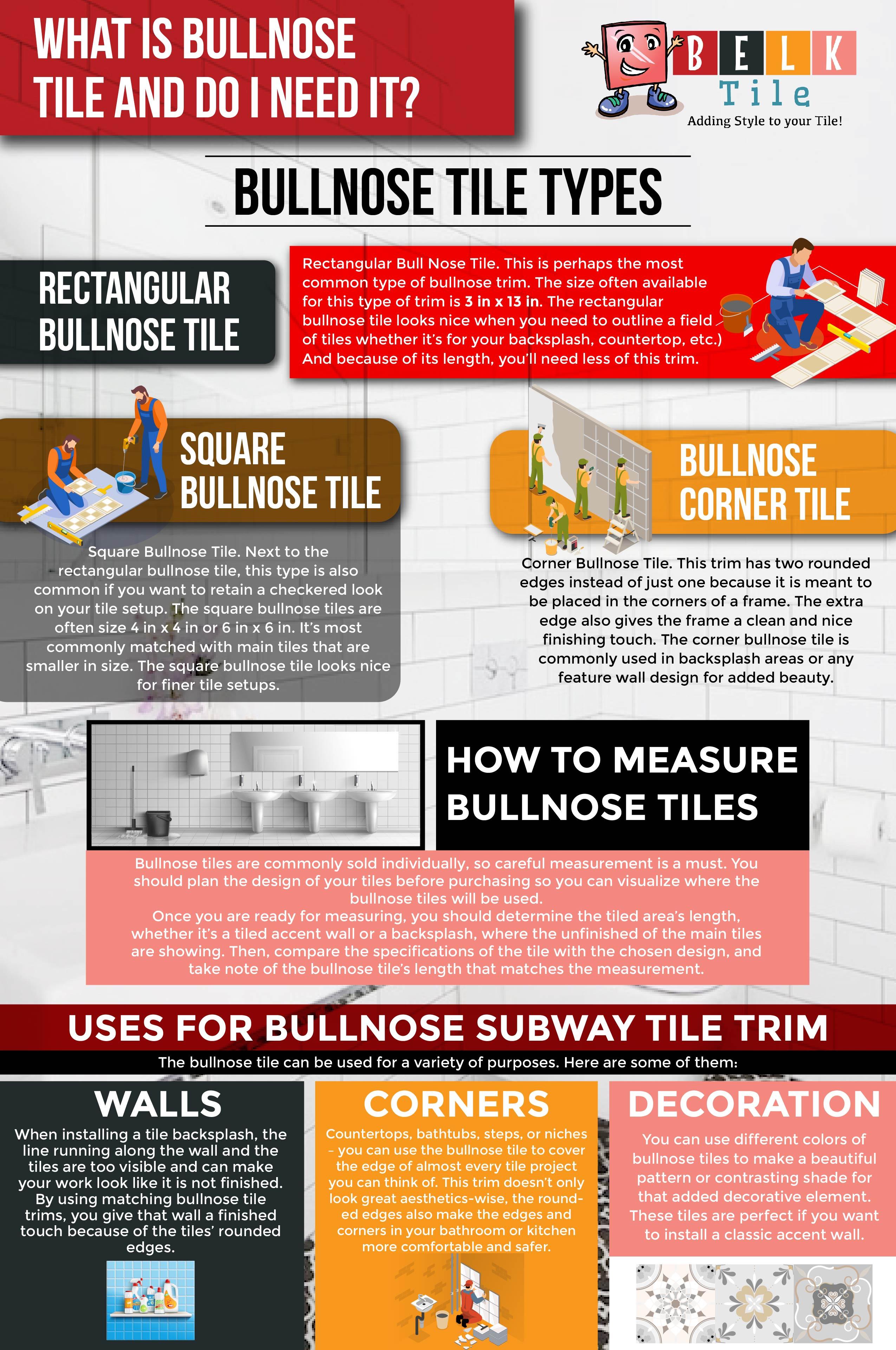 bullnose tile