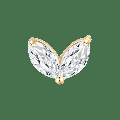 14k Solid Gold Twin Gem Tiara - Bella Andrea London