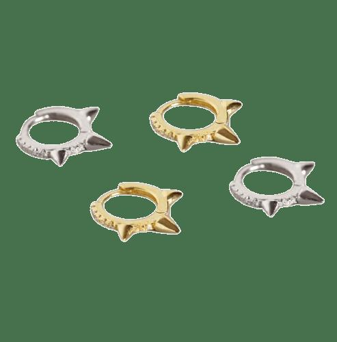 Tri-Spiked Hoop - Bella Andrea London - Piercing Jewellery