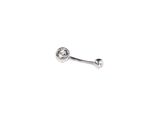 Clear Double Jewelled Navel Bar - Bella Andrea Andrea