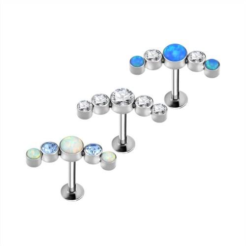 Titanium Curved Cluster Jewel