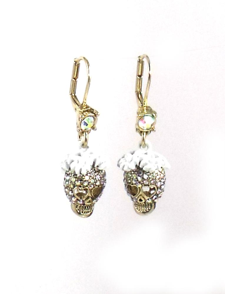 Betsey Johnson Jewelry I Dream Of Betsey Skull Drop