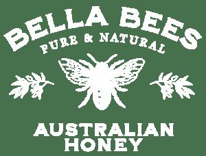 Bella Bees Honey Logo white