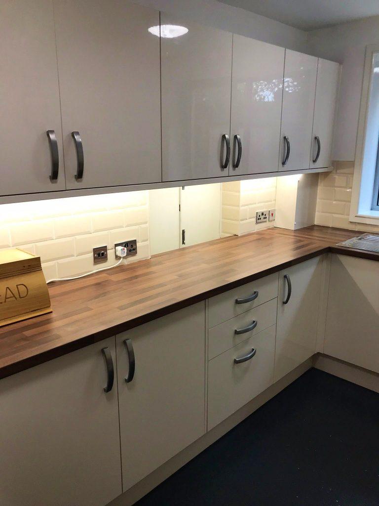 Kitchen fitting by Bella Bespoke