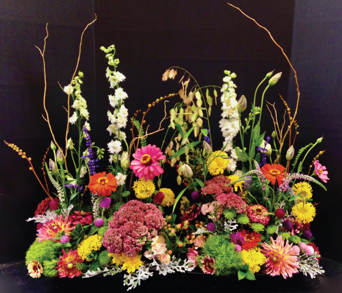 botanical arrangement event flowers Bella Blumen Up North Florist