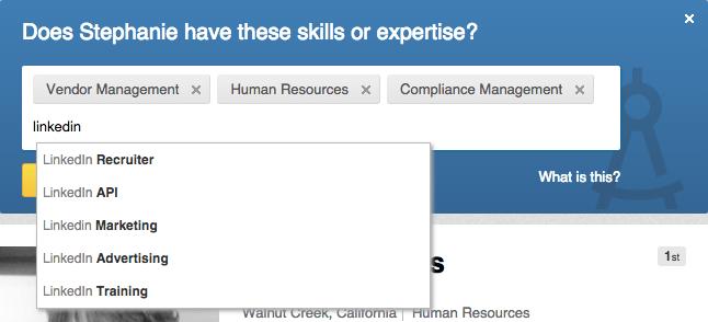 Search loves LinkedIn skills endorsements