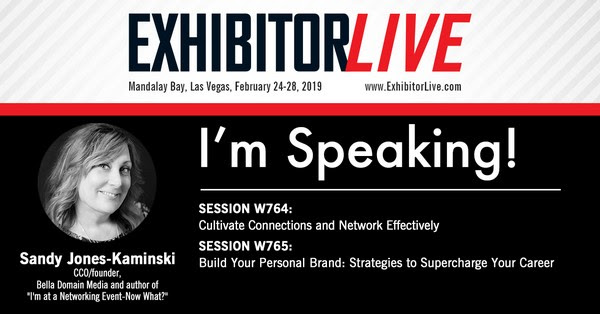Sandy Jones-Kaminski speaking at EXHIBITORLIVE 2019 in Las Vegas
