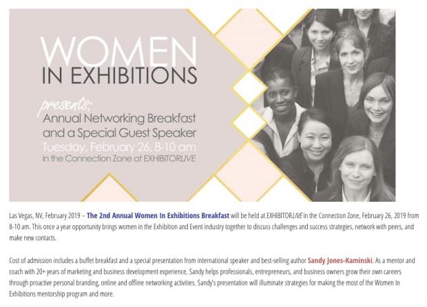 Women in Exhibitions, Speaker Sandy Jones-Kaminski