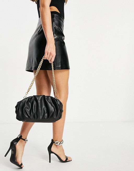 Asos Oversized Ruched Clutch - Black