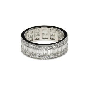 White gold band surrounded with diamonds