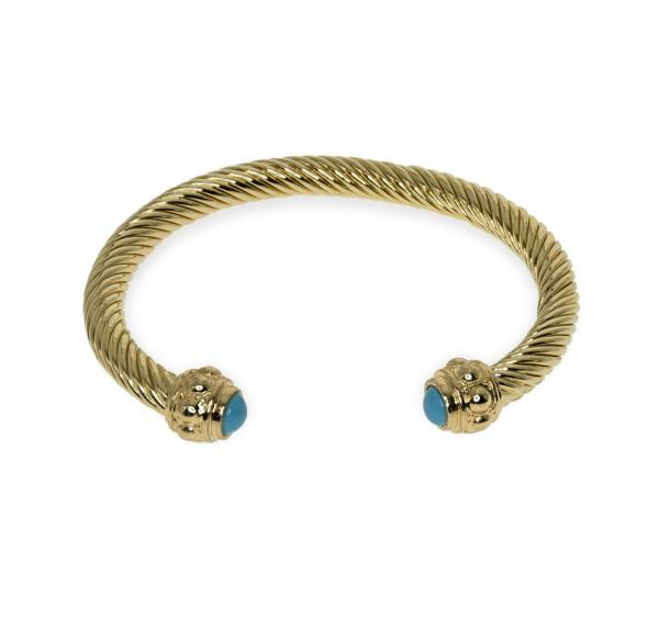 Gold Bracelet With Turquoise Accents