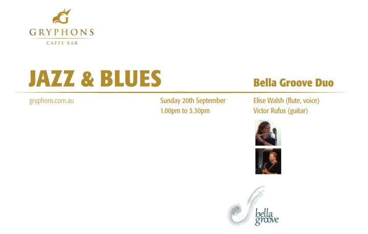 see Bella Groove at Gryphons Caffe 20/09/2015