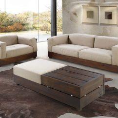 Sofa E Colchao Osasco Leather Color Repair Sofás De Madeira Na Decoração Bella Kaza