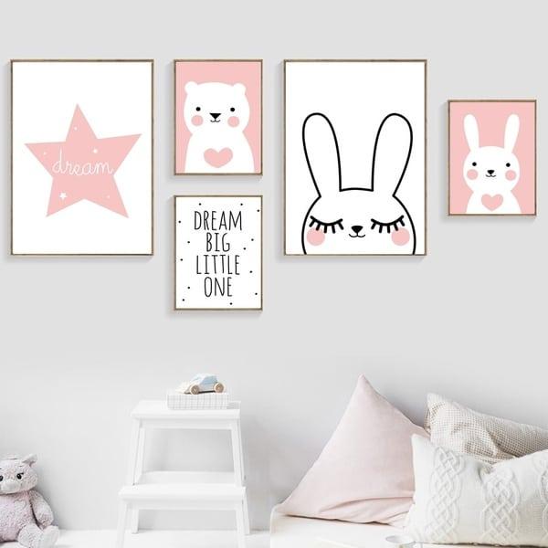 Canvas Posters Meisjes Kamer Slaapkamer Decoratie