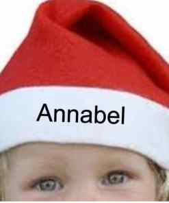 Kerstmuts gepersonaliseerd met naam