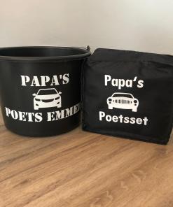 Papa's auto was set - Emmer - Sponzen - vaderdag cadeau - Autopoets set - Auto wassen - cadeau voor hem - cadeau voor papa