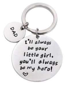 I'll Always Be Your Little Girl.You Will Always Be My Hero - Sleutelhanger - Vaderdag cadeau - Cadeau voor papa - Gepersonaliseerd cadeau