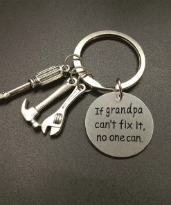 If Grandpa Can't Fix It No One Can - sleutelhanger - Vaderdag cadeau - Cadeau voor papa - Gepersonaliseerd cadeau