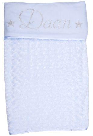 Babydeken met naam - en afbeelding - Gepersonaliseerd - Kinderkamer accessoires - Bed textiel - Beddengoed kinderkamer - Zacht dekentje met naam - Kraam cadeau